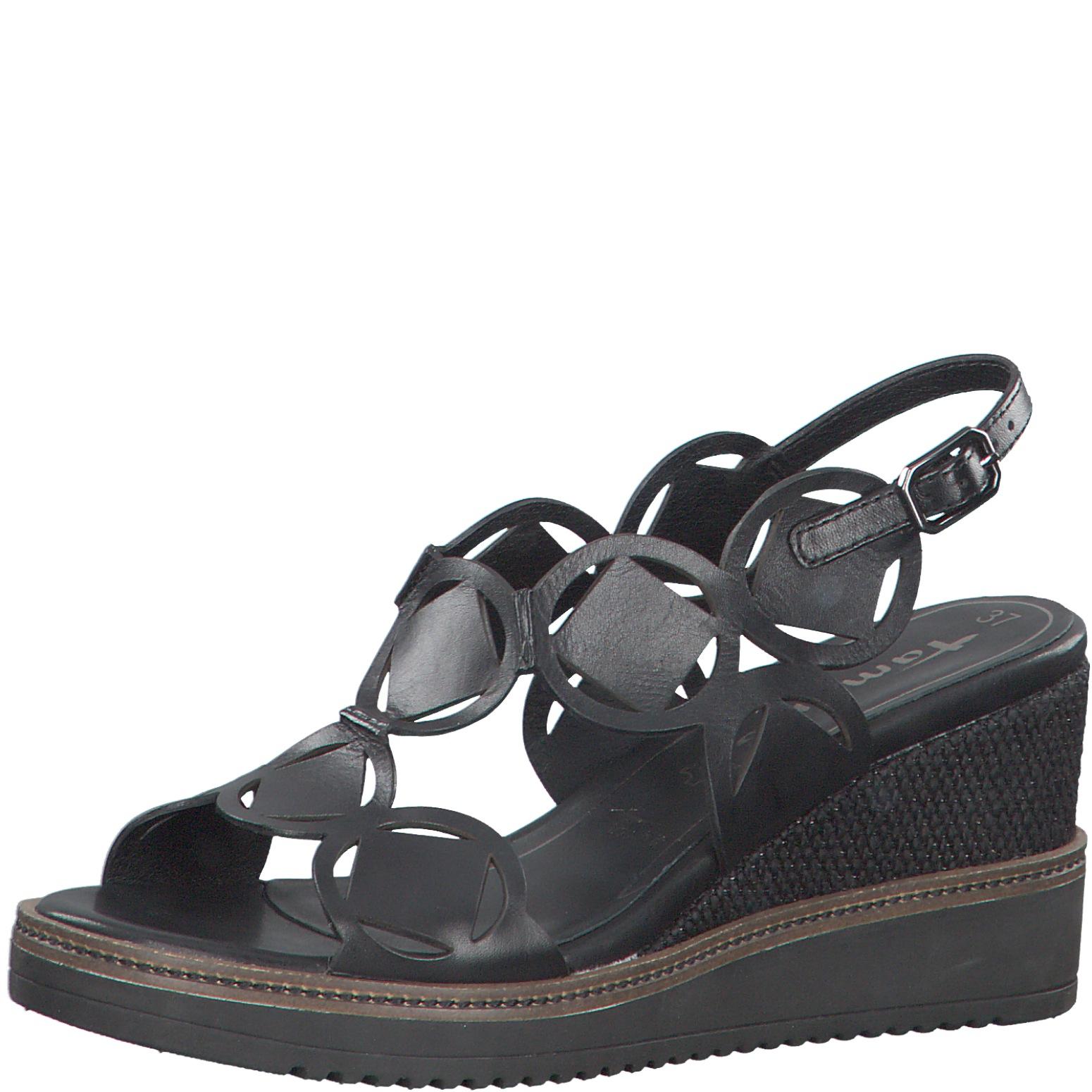 Nahkainen naisten sandaali   Musta väri   301