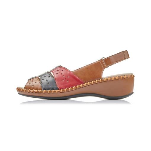 Naisten sandaalit Rieker punainen Skobox.fi verkkokauppa